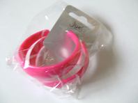 Pair of retro large plastic hoop earrings - various bright colours (Code 0089)